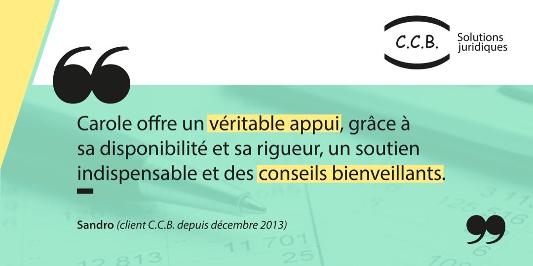Témoignage - Sandro de Gasparo - client CCB Solutions Juridiques